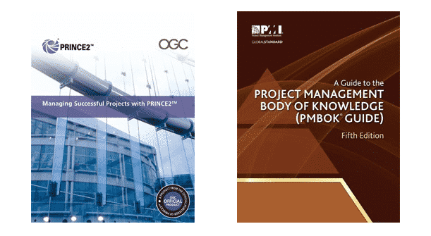 PMBOK Guide and PRINCE2 Manual